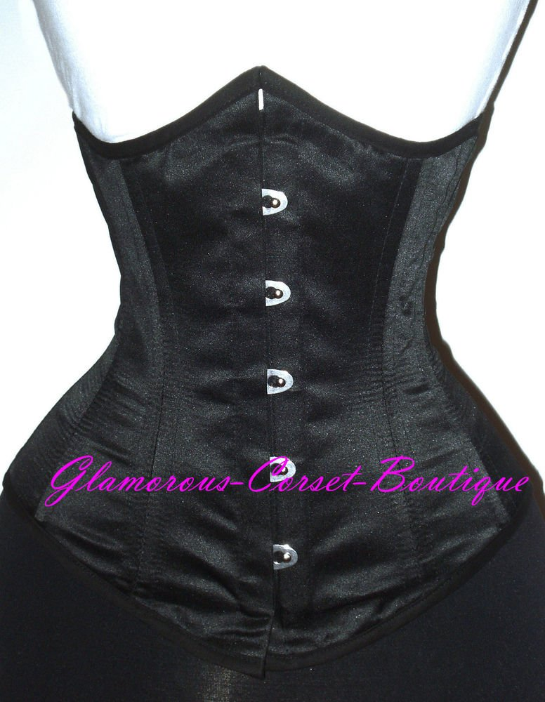 Double Steel boned Corset Waist Training Underbust 26 Steel Bones Cincher XS-6XL
