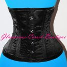 SHORT Double Steel Boned Corset Underbust Waist Training 22 Steel Bones XS -6XL