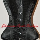 Waist Training Steel Corset Double Boned 22 Steel Bones Heavy Shaper XS - 3XL