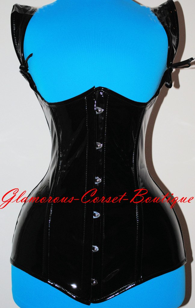 Steel Corset Waist Training PVC Long Underbust Double Boned LONG TORSO  XS-3XL