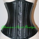 Waist Training Corset Leather 26 Steel Bones Double Boned Shaper Cincher XS -4XL