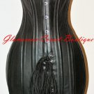 Leather Corset Dress 26 Steel Bones Double Boned Waist Training DOM XXS-4XL