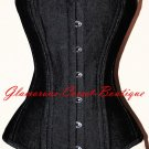 NEW Steel Corset Heavy Waist Training Double Steel Boned Denim Shaper XS - 2XL
