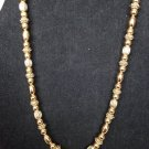 Liz Claiborne Signed Beaded Plated 16 Inches Necklace