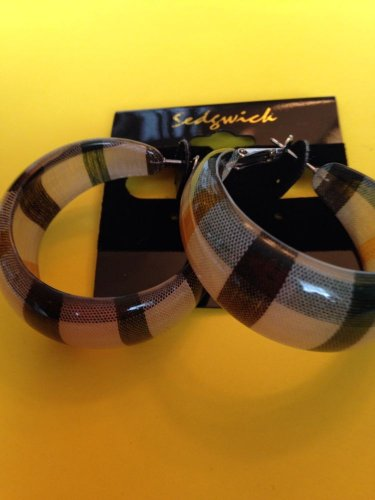 Scotch Plaid Earrings, New