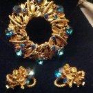 Vintage brooch set earrings