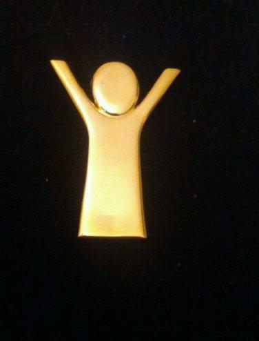 Save the children sterling silver vermeil brooch
