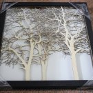 3D wooden wall picture for decoration (48*48cm) - forest B