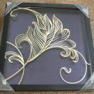 3D wooden wall picture for decoration (48*48cm) - elegant flower