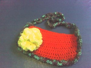 PURSE WITH YELLOW FLOWER