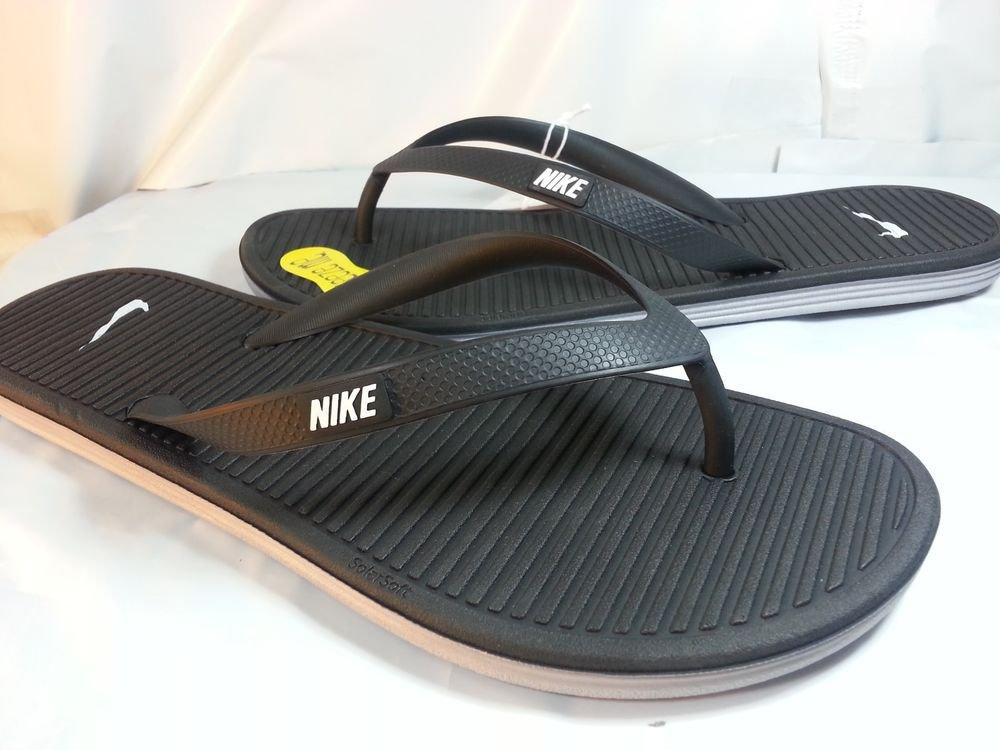 cf87afd2b Nike Solarsoft Thong II Black Stealth Grey Flip Flops Sandals Men ...