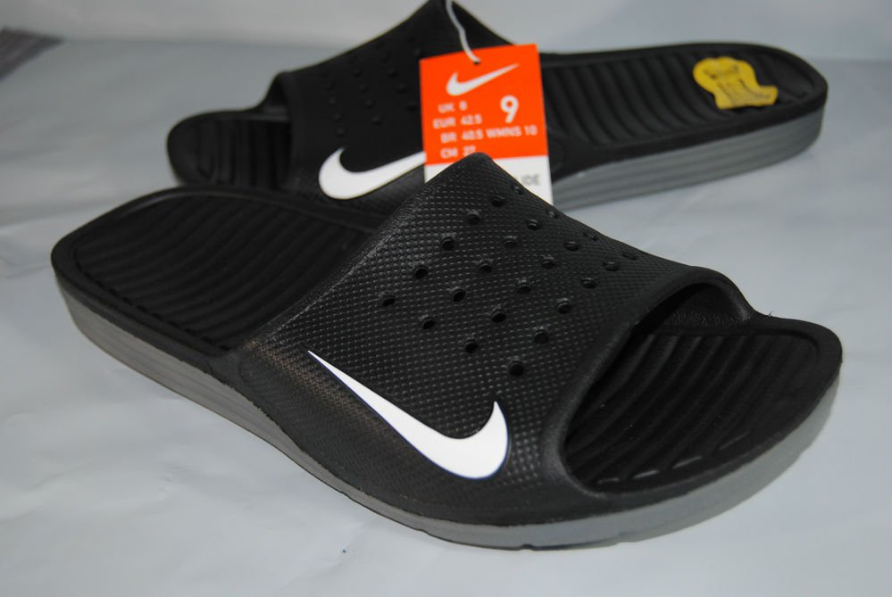 Nike Solarsoft Slide Swoosh Black w