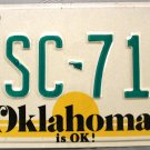 1988 Oklahoma License Plate (PSC 718)
