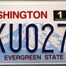 2014 Washington License Plate (AKU0279)