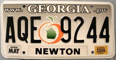 2006 Georgia License Plate (AQE 9244)