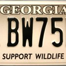 2008 Georgia Support Wildlife License Plate (BW75NU)