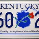 2006 Kentucky Law Enforcement Memorial License Plate (160 24)