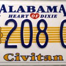 2000 Alabama Civitan License Plate (208 CW)