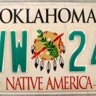 2003 Oklahoma License Plate (FVW 247)