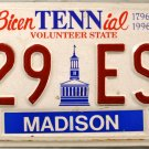 2000 Tennessee BicenTENNial License Plate (629 ESW)