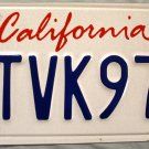 2007 California License Plate (5TVK973)