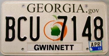2011 Georgia License Plate (BCU 7148)