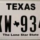 "Texas ""Classic"" License Plate (CXW 9348)"