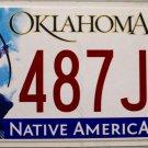 2014 Oklahoma License Plate (487JPB)