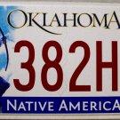 2015 Oklahoma License Plate (382HOZ)