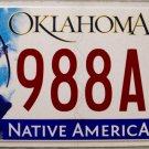 2015 Oklahoma License Plate (988AFH)