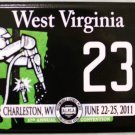 2011 Charleston, West Virginia ALPCA 57th Annual Convention Motorcycle License Plate (233)
