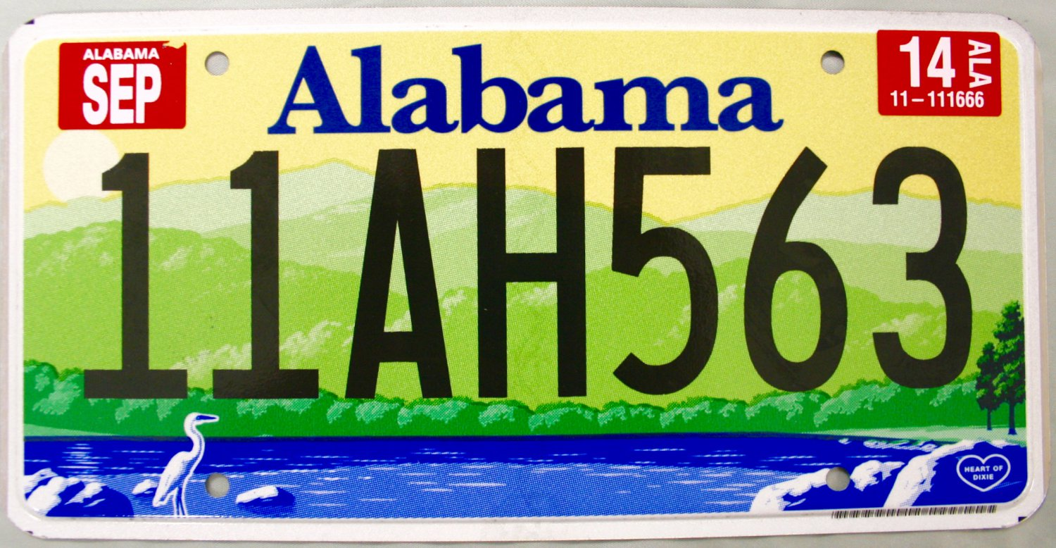 2014 Alabama License Plate (11AH563)