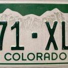 2012 Colorado License Plate (271-XLE)