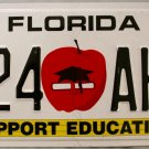 2009 Florida Support Education License Plate (424 AHC)