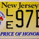 New Jersey (Fallen Law Enforcement Officers) Price of Honor License Plate (LE 97BR)
