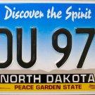 2014 North Dakota License Plate (KDU 974)