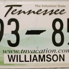 2014 Tennessee License Plate (F93 85G)