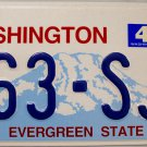 2005 Washington License Plate (363-SJE)