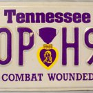 1992 Tennessee Combat Wounded Purple Heart License Plate (00P H93)