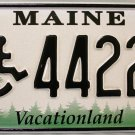 2002 Maine Wheelchair Disabled License Plate (44220)
