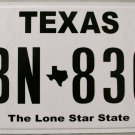 """Texas """"Classic"""" License Plate (GBN 8365)"""