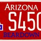 2015 Arizona: University of Arizona License Plate (S4509)