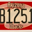 2015 Arizona Diamondbacks License Plate (DB12516)