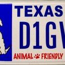 Texas Animal Friendly License Plate (D1GVM)