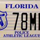 2000 Florida Police Athletic League License Plate (78MNL)