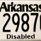 2014 Arkansas Disabled License Plate (298706)