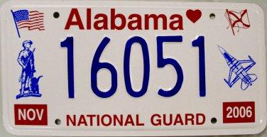 2006 Alabama National Guard License Plate (16051)