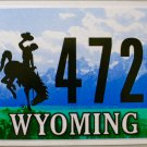 2015 Wyoming License Plate (17 47226)