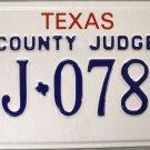 1999 Texas County Judge License Plate (CJ 078A)