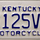 2012 Kentucky Motorcycle License Plate (6125V)
